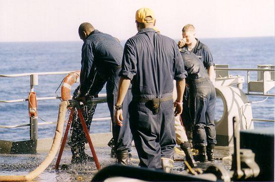 felállítás a fedélzet után