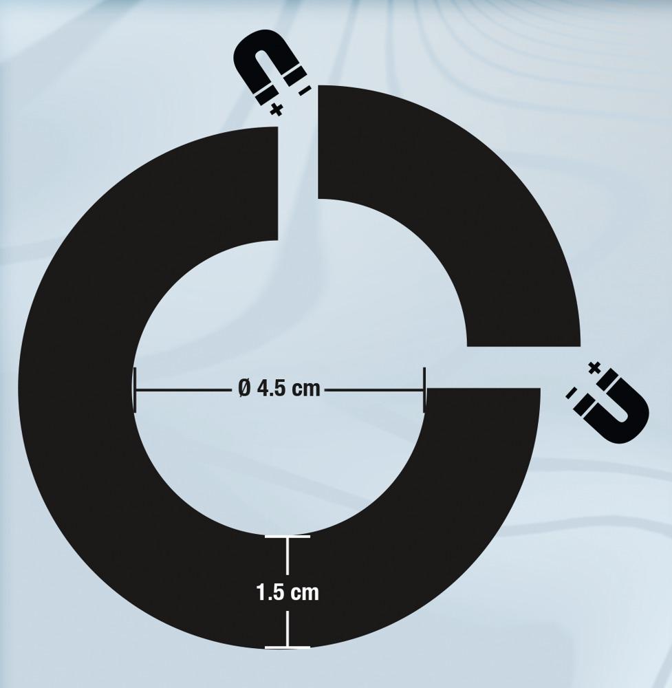 Sextreme - mágneses acél péniszgyűrű (3,9cm)
