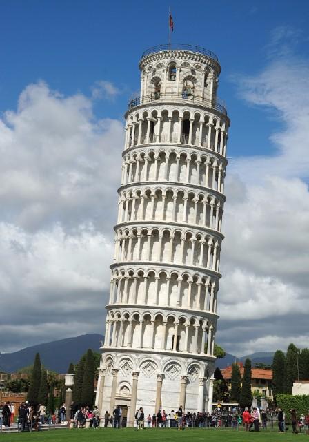 Pisa-i ferde torony erekció és nitroglicerin